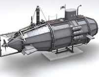 Steampunk Submarine Concept