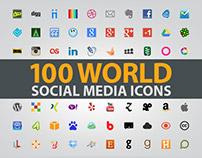 100 World Social Media Icons