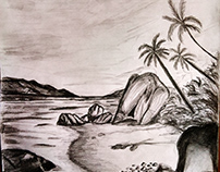 Sketching Island by pencil 😍🤘🌴🌊