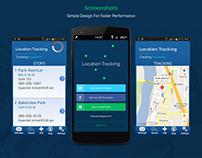 Location Tracking App Portfolio | Web Page Design