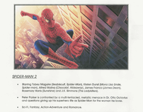 Sony Pictures ad copywriting/sales-sheet collateral