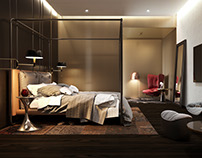 Bedroom interior in Kiev