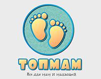 """Логотип для магазина детский товаров """"Топмам"""""""