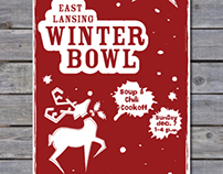 East Lansing Winter Bowl Poster Concepts