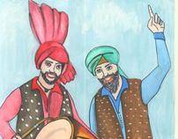 Punjabi calender design illustration
