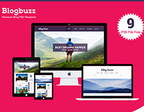 Blogbuzz- Personal blog free psd template