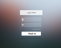 Mac OS style Login panel FREE PSD