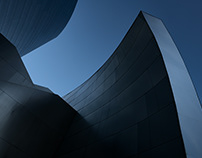 shapes and tones; Disney Hall