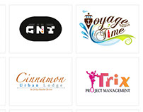 A collection of logos done up until early 2013