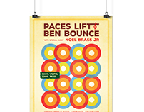 Gig Poster Designed for Producer Paces Lift