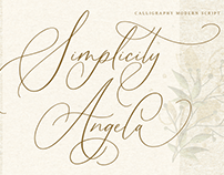 Simplicity Angela - Calligraphy Font
