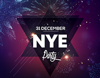New Year Eve 2019 PSD Flyer Template