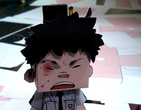 KOREA Comics Character Collaboration papertoy & SCAIF