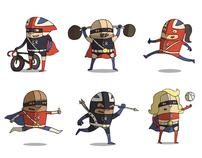 Olympic Superheroes Team GB