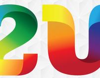Agência 2U - Logotipo, projeto gráfico, site...