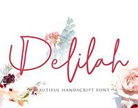 Delilah   Font Script