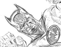 batman with guns blazing