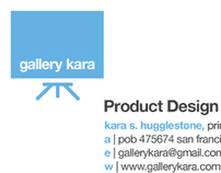 Gallery Kara: Logo + Card Design