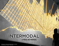 Intermodal Cast Glass and LED Public Art Proposal