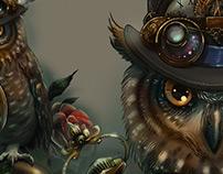 Sir Owl (steam-punk)