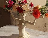 Dancer for Flowers - Sculpture