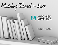 3D Modeling Tutorial - How to model a Book in maya 2018