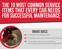 The 10 Most Common Service Items for Car Maintenance