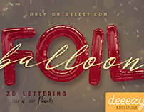 Foil Balloon FREE 3D Lettering