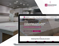 Landing page Ui/UX design for sale countertops