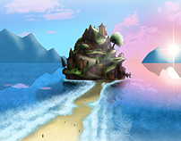 Island Village (Dream-based Illustration)