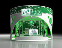 LA Menthol Lights Double deck booth