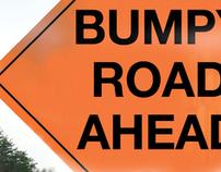 Wall Poster-Bumpy Road Ahead