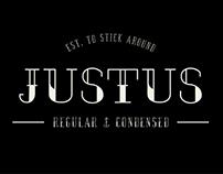 JUSTUS typeface