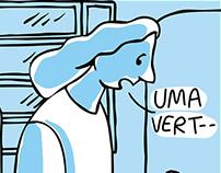 Quadrinhos azuis
