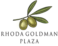 Rhoda Goldman Plaza Logo illustrated by Steven Noble
