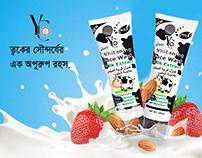 Social Media YC Whitening Milk Extract Face Wash