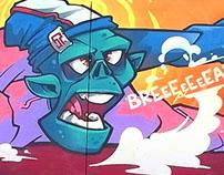 b-boy zombie