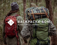 Brand Development + Website Design // Backpacks.com