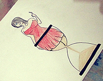 Hourglass Lady : Becoming what you are (Sand).