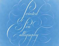 Pointed Pen Caligraphy Poster