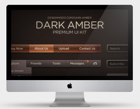 Dark Amber UI (User Interface Kit)