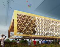 Architetture di servizio del sito di Expo Milano 2015