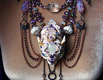 LADY LUNA Cat Skull Amulet Necklace