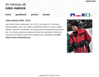 Memorial website - robinmelnick.org