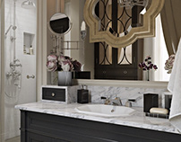 Classical Bathroom Design Detailed 3D Visualization