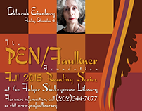 Pen/Faulkner 2015 Fall Reading Series poster