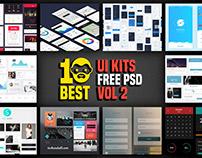 10 Best UI Kits Free PSD Vol 2