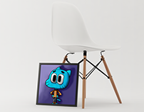 Training painting #first - Gumball (GIF)