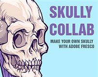 Skully Collab with DTM - make your own w Adobe Fresco