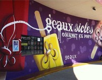Geauxsicles Mural